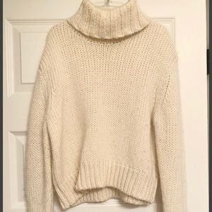 Cream Turtle Neck J-Crew sweater